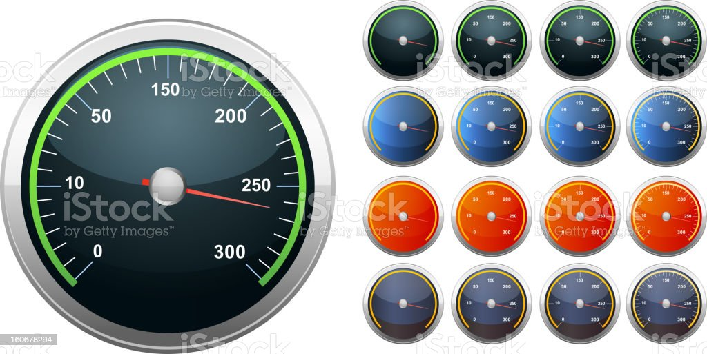 Speedometer Icon royalty-free stock vector art