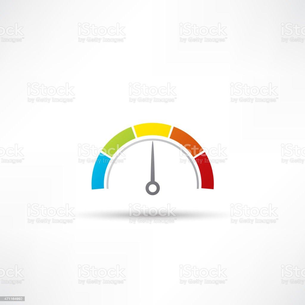 speedometer icon vector art illustration