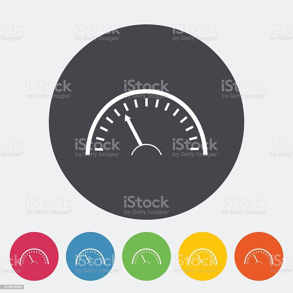 Speedometer icon. vector art illustration