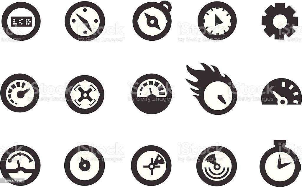 Speedometer Icons vector art illustration
