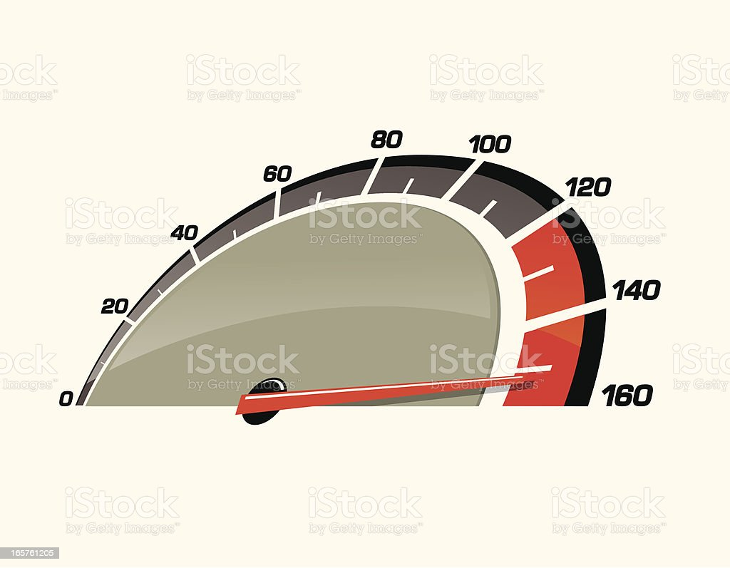 Speedometer Pushed to the Limit vector art illustration
