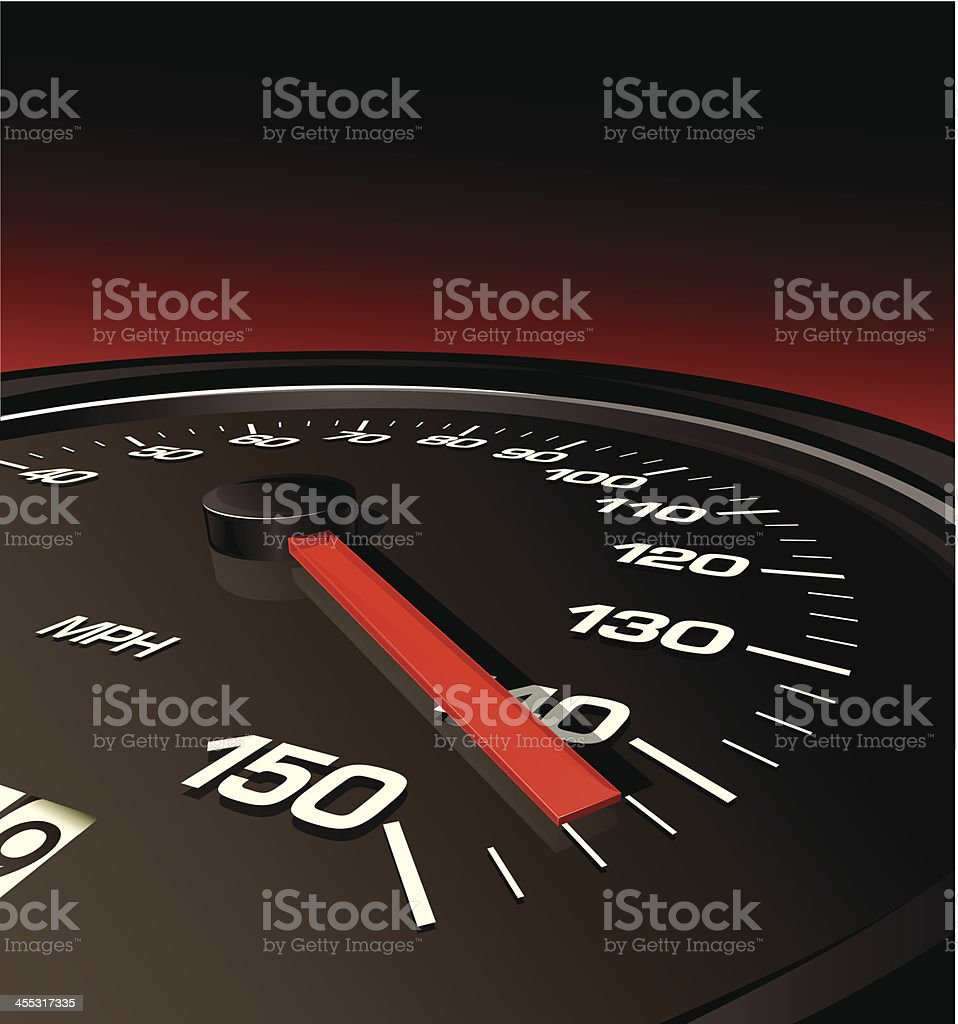 Speedometer Pushed to the Limit royalty-free stock vector art