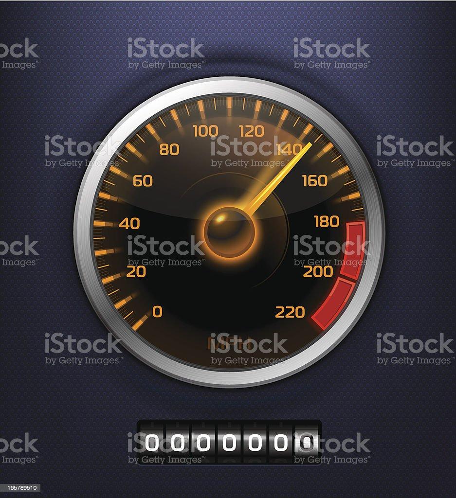 Speedometer vector art illustration