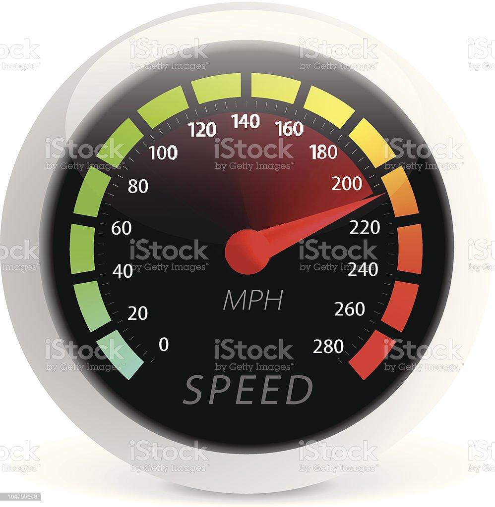 Speedometer vector illustration vector art illustration