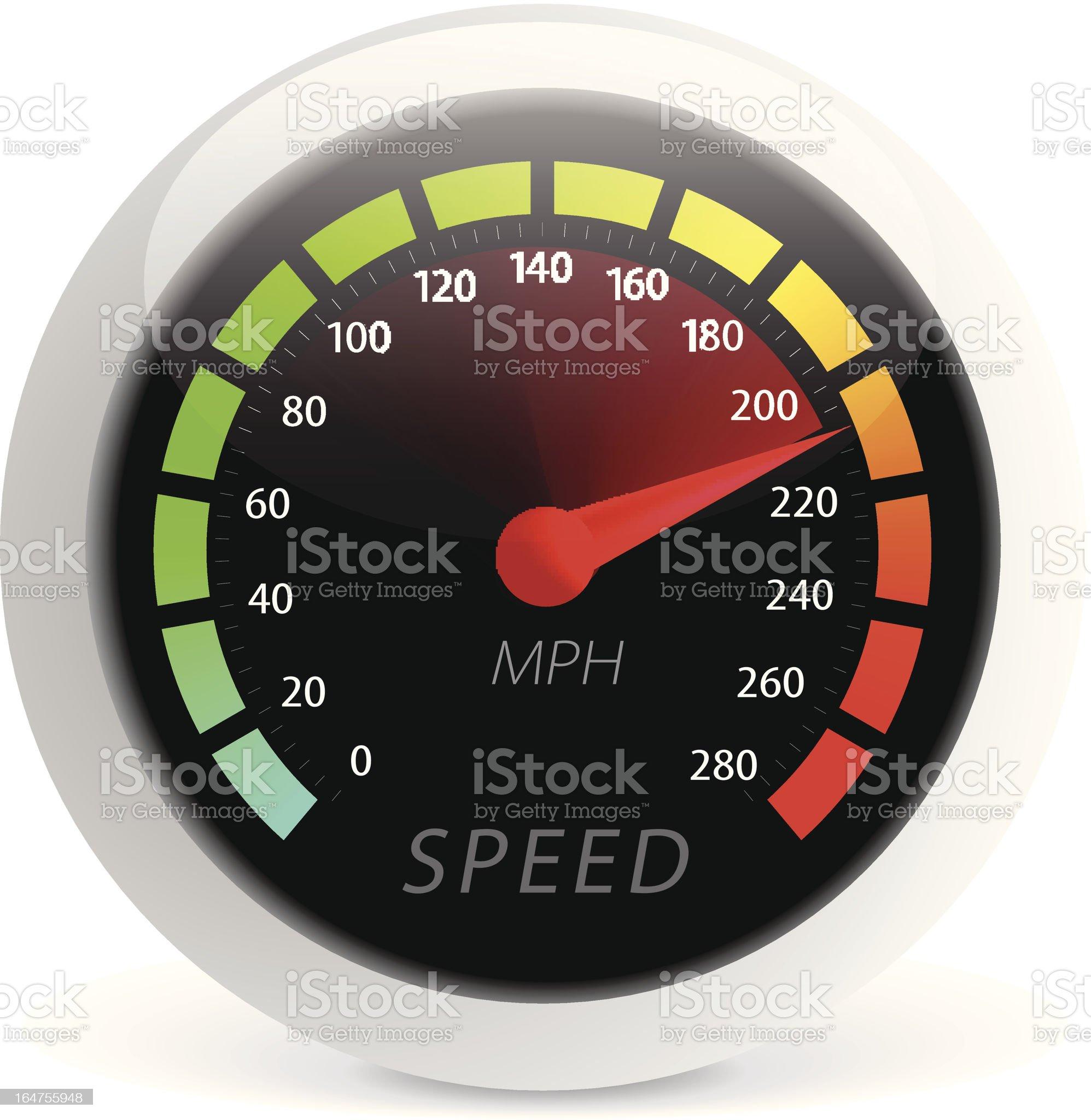 Speedometer vector illustration royalty-free stock vector art