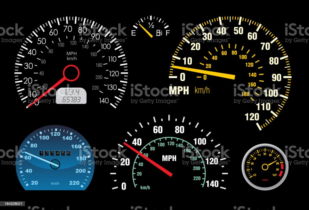 Speedometers 2 royalty-free stock vector art