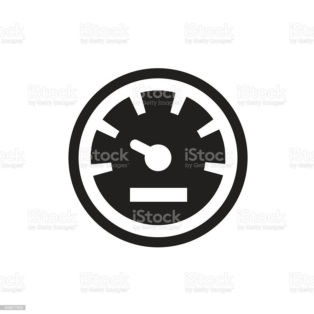 Speedometers vector icons vector art illustration