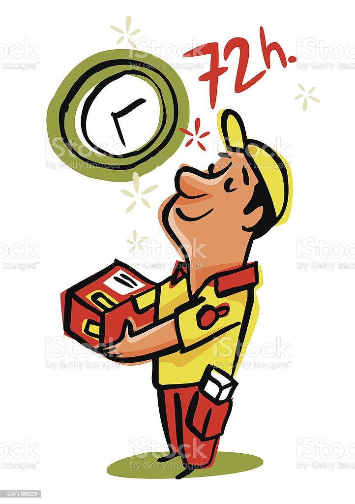 Speedy Delivery in 72 hours royalty-free stock vector art