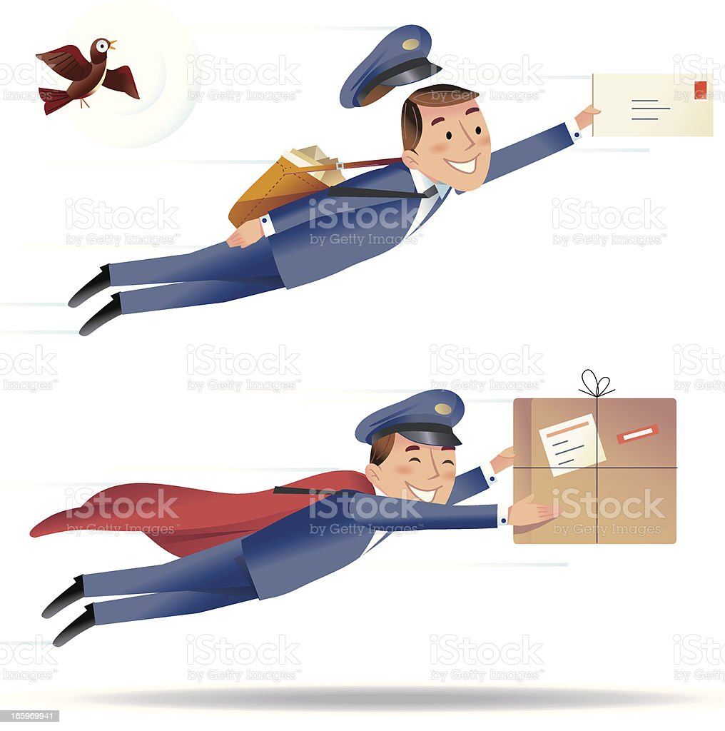 Speedy Delivery royalty-free stock vector art