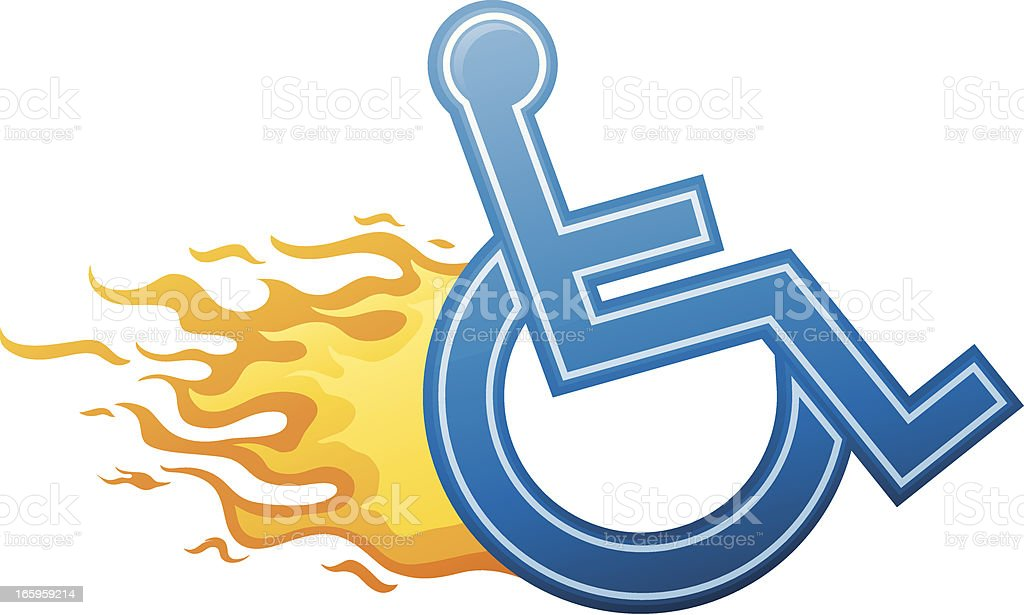 Speedy Wheelchair Sign royalty-free stock vector art
