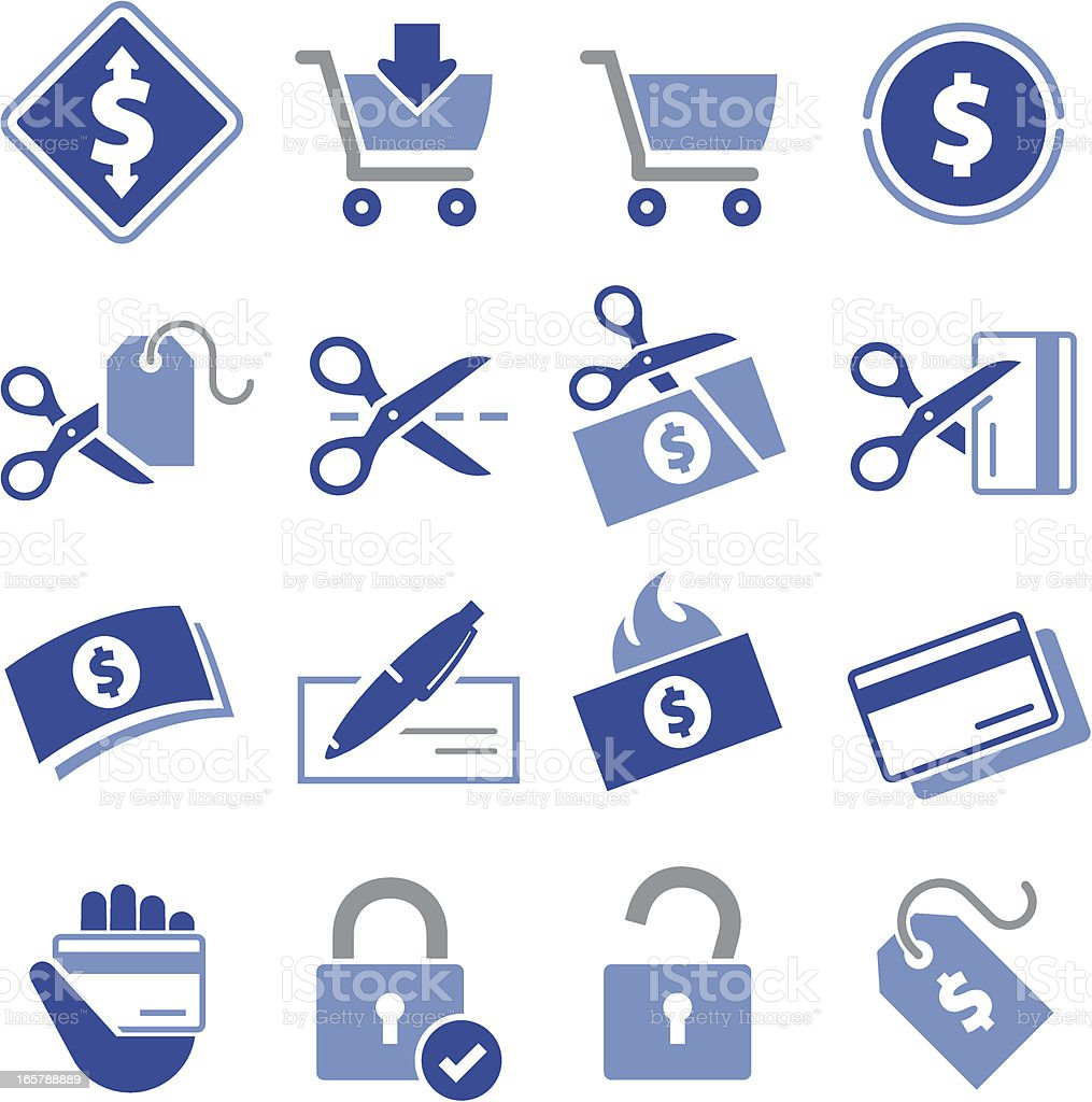 Spending Icons - Pro Series royalty-free stock vector art