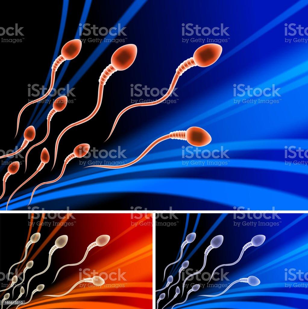 Sperm royalty free vector arts on Dark Background vector art illustration