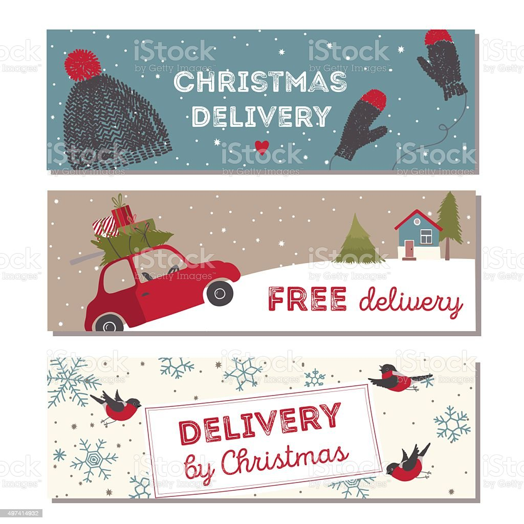 Spesial christmas delivery vector Illustration vector art illustration