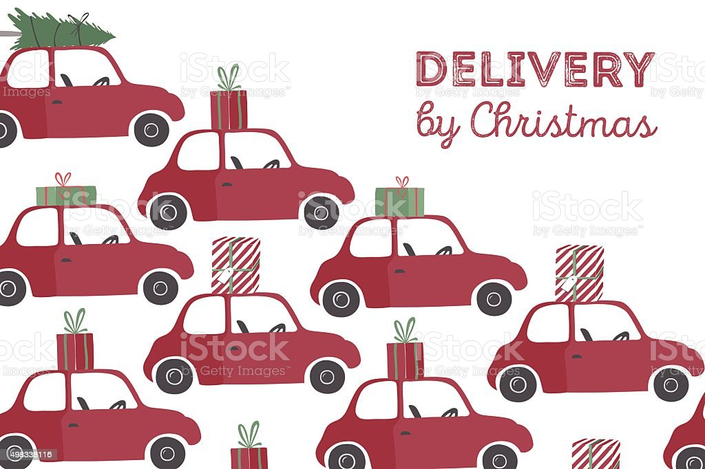 Spesial christmas delivery vector Illustration vector art illustration