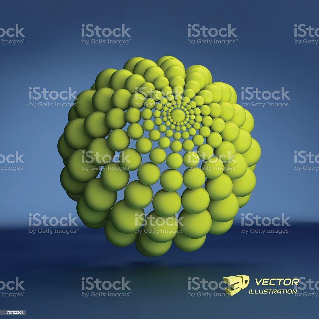 Sphere. 3d vector template. Abstract illustration. vector art illustration