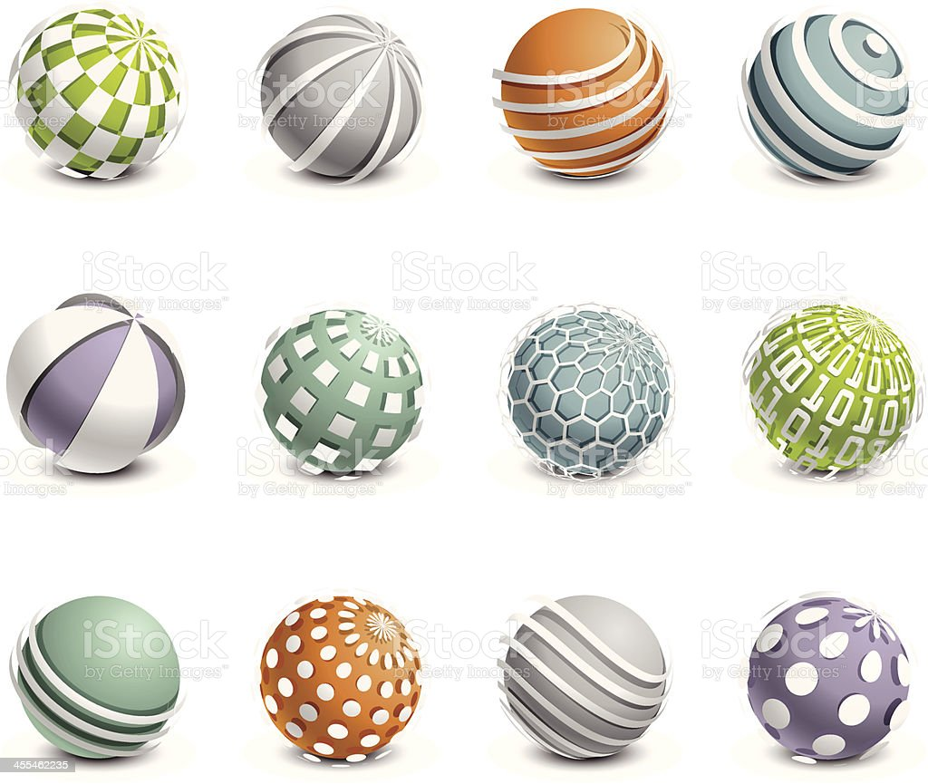 Sphere Design Elements royalty-free stock vector art