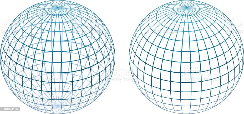 Sphere gird royalty-free stock vector art
