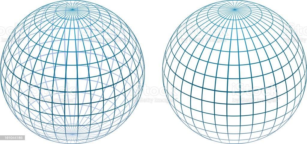 Sphere gird vector art illustration