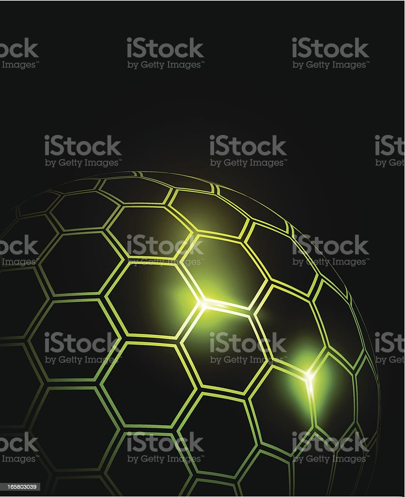 Sphere made of hexagons royalty-free stock vector art