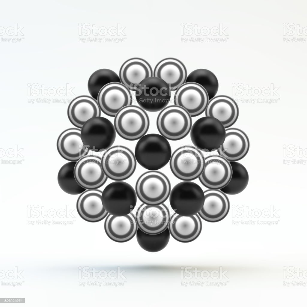 Sphere. Molecular Structure. Geometrical Composition. Technology, Science and Research. 3d Vector Illustration. vector art illustration