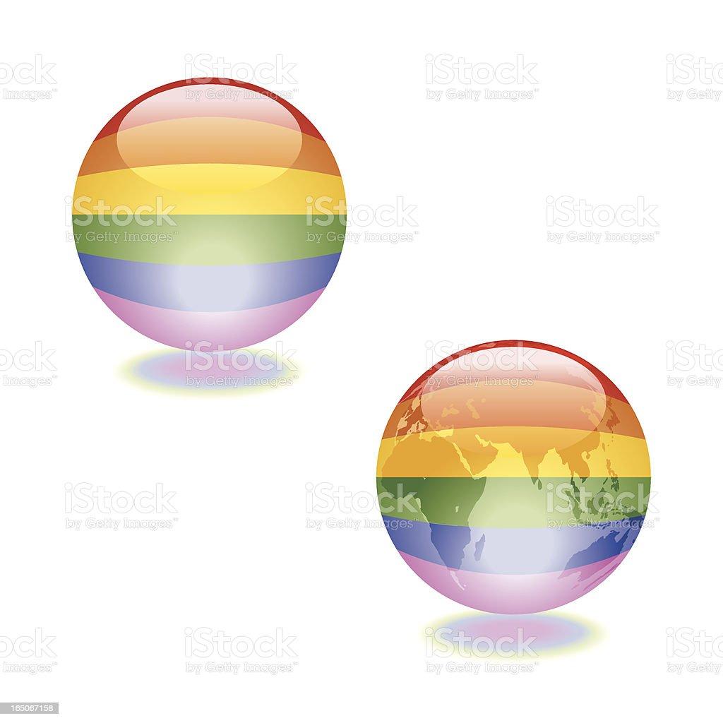 Sphere of LGBT Pride Vector vector art illustration