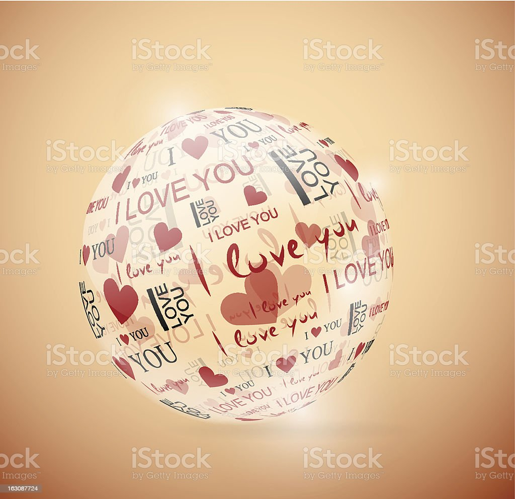 Sphere of love royalty-free stock vector art