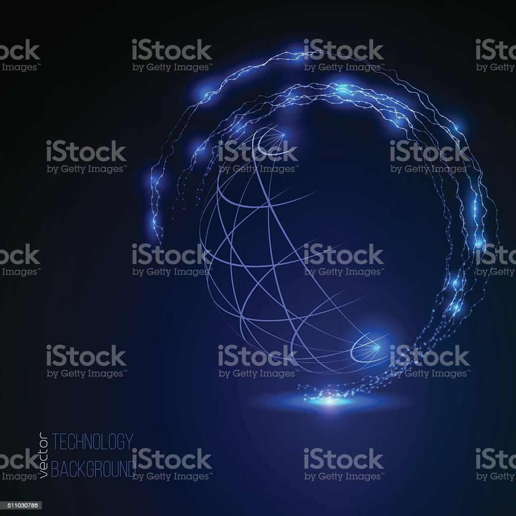 3D sphere wireframe element, globe shaped net. HUD element vector art illustration