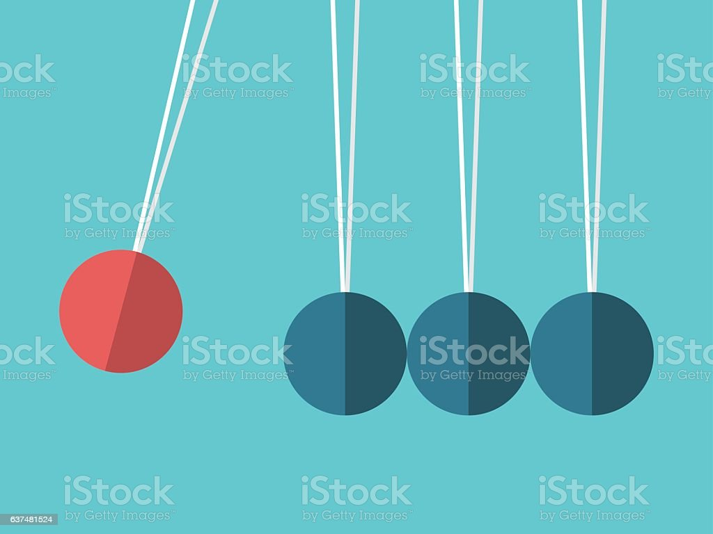 Spheres on threads concept vector art illustration