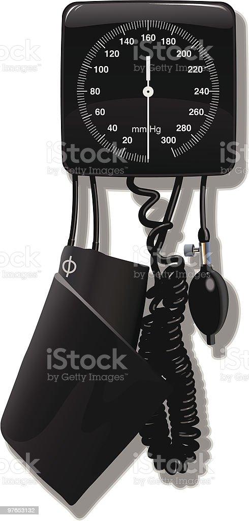 sphygmomanometer vector art illustration