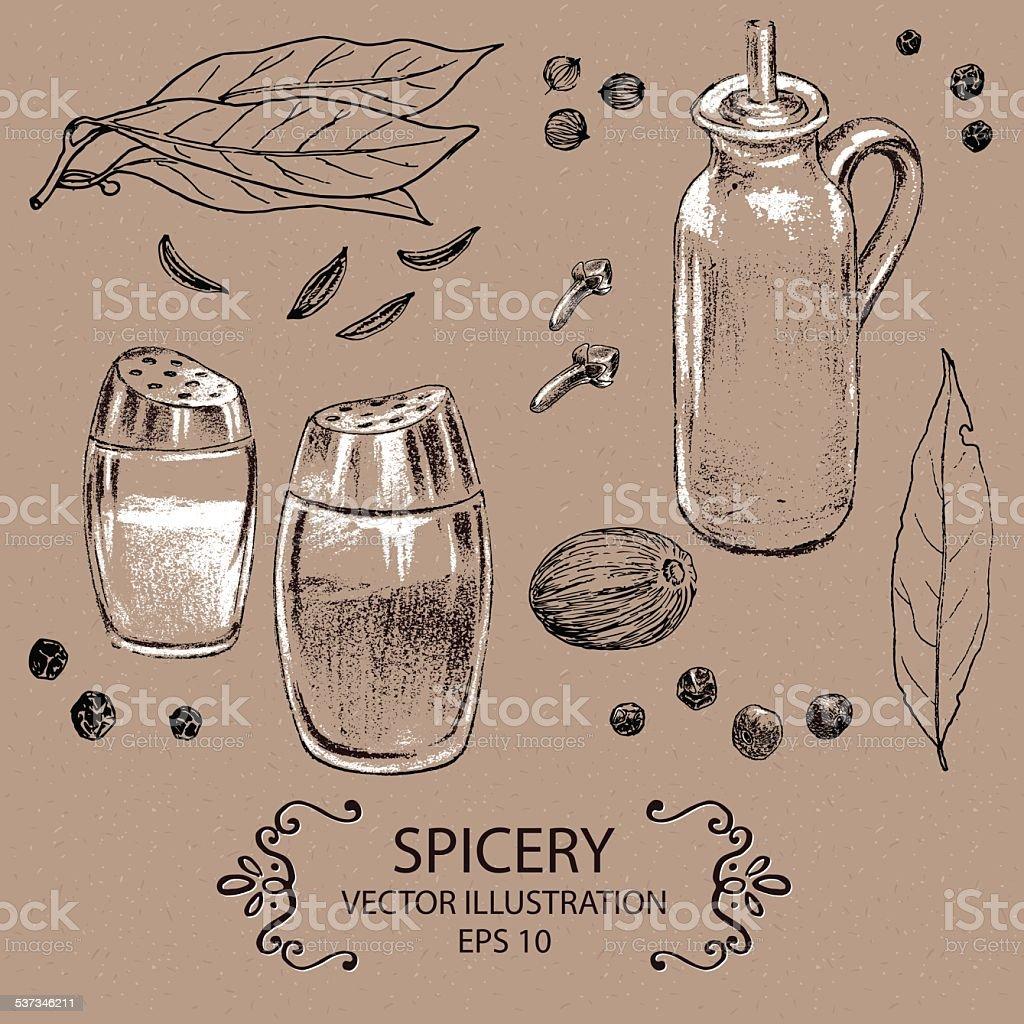 spicery vector art illustration