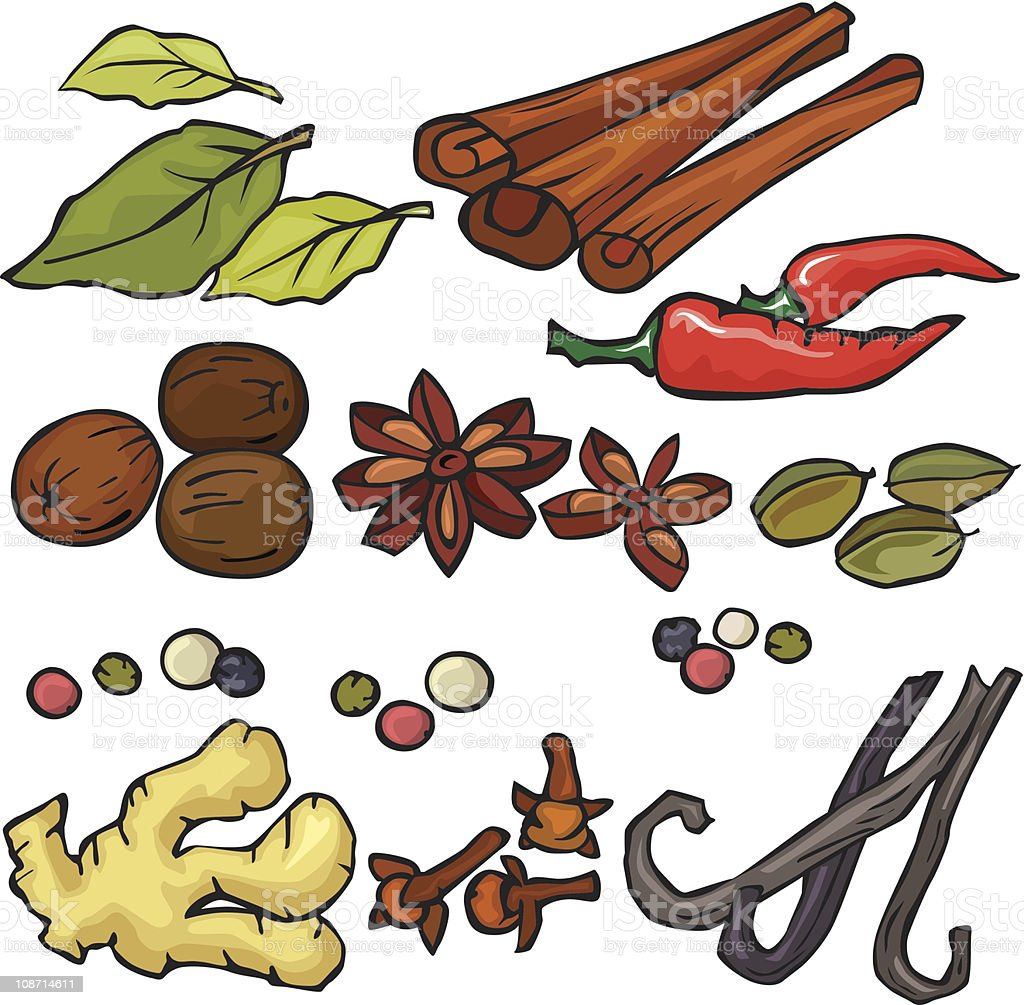 Spices icon set royalty-free stock vector art