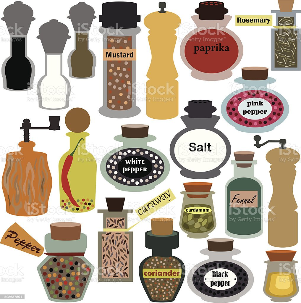 Spices vector art illustration