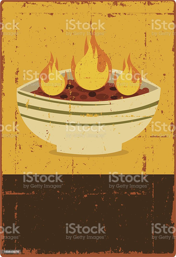 Spicy Chili Sign vector art illustration