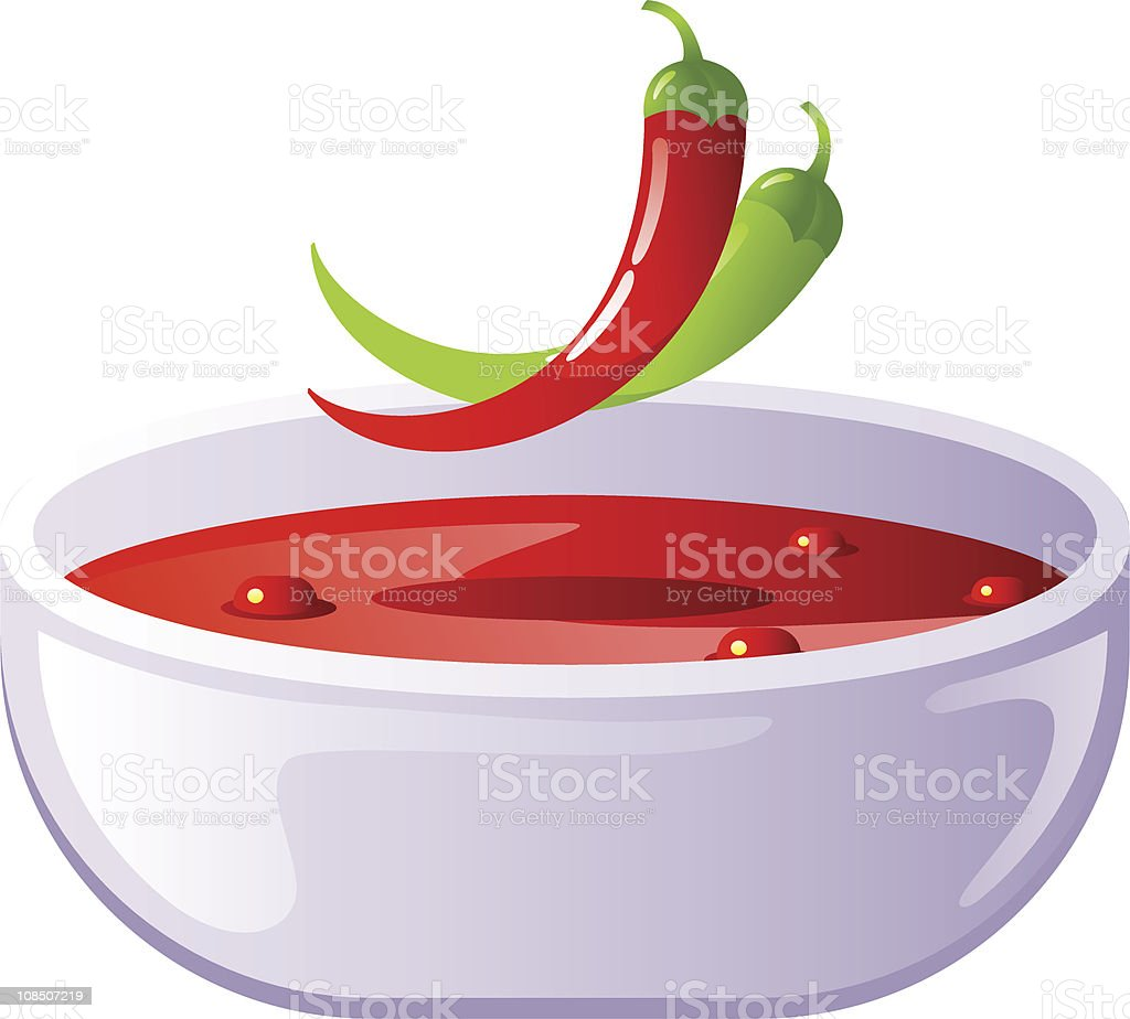 Spicy chili soup royalty-free stock vector art