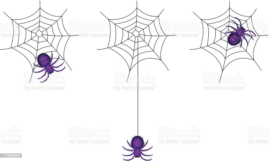 spider cartoon and webs royalty-free stock vector art