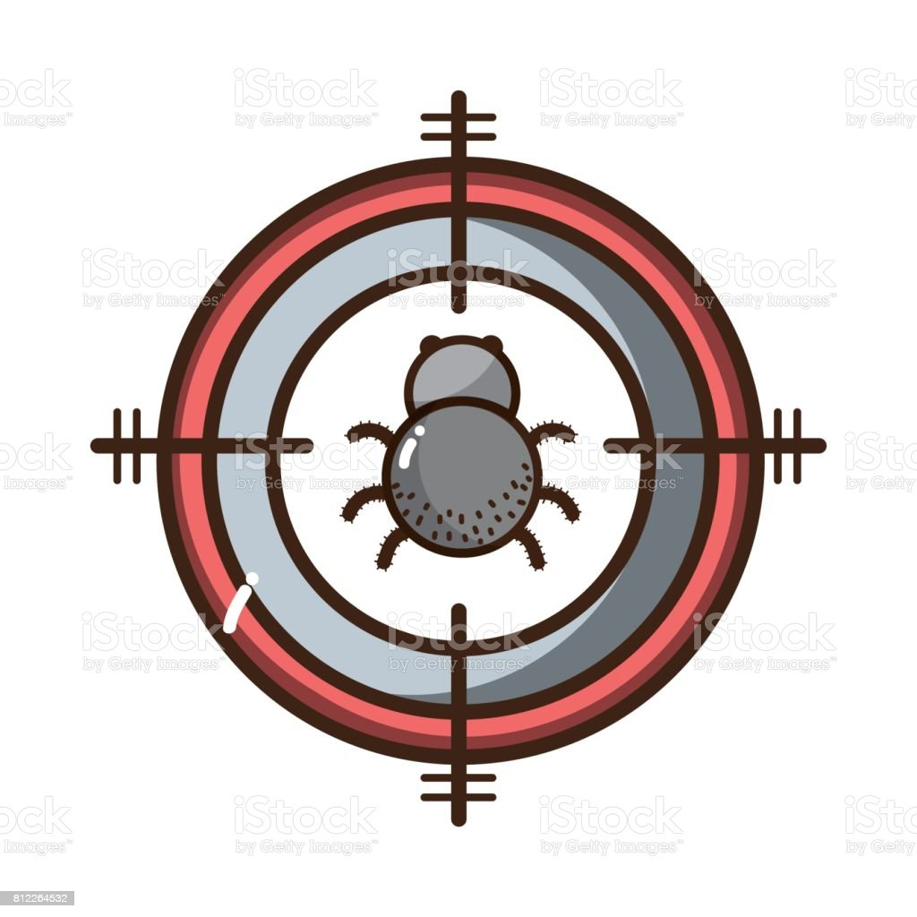 spider insect animal symbol and dangerous symbol icon vector...