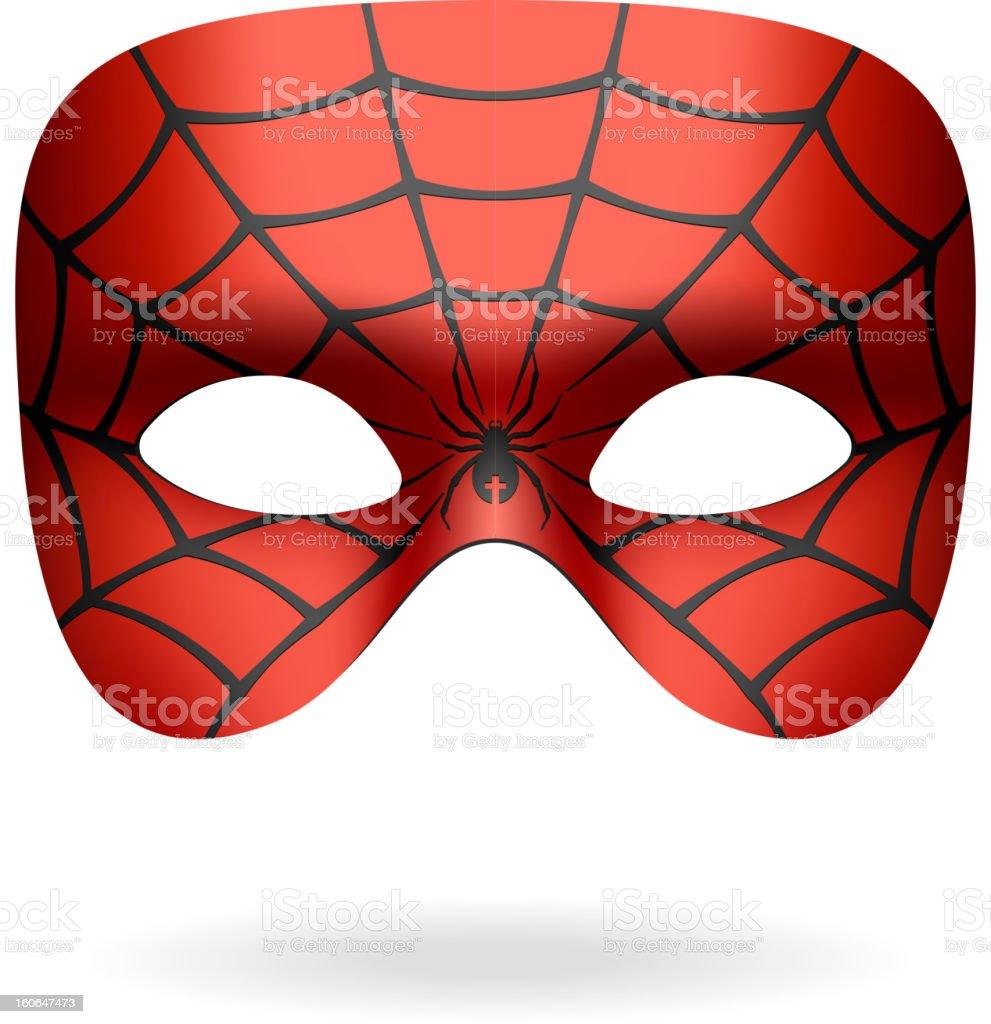 Spider mask vector art illustration