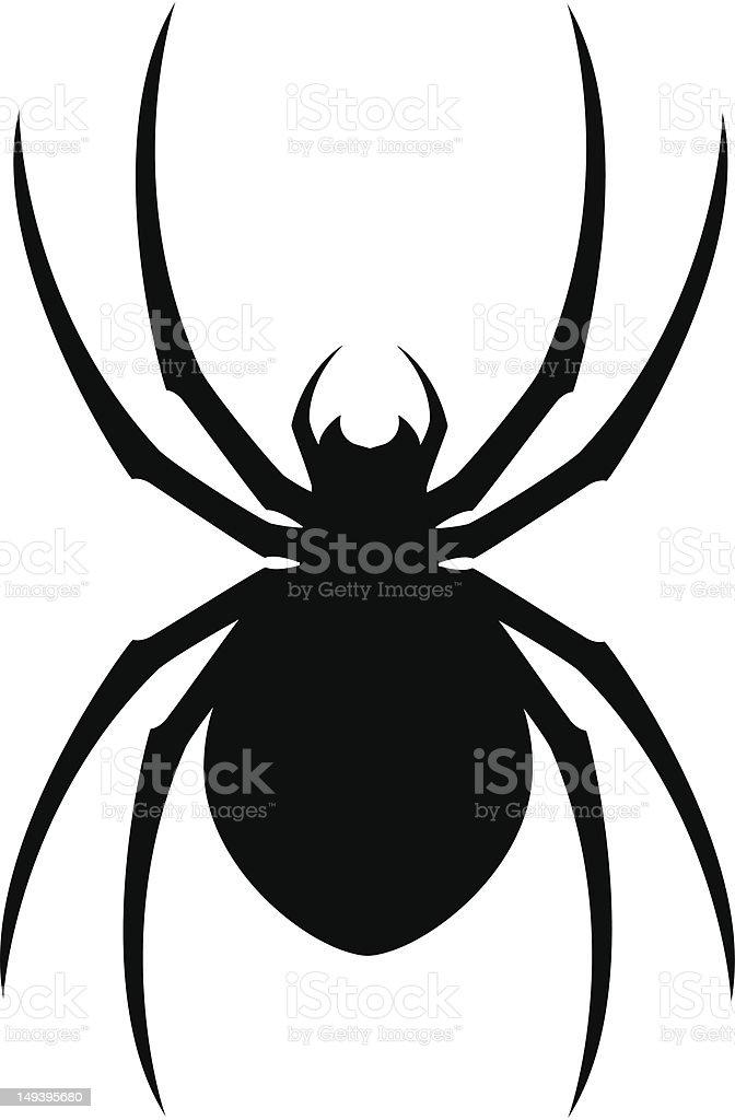 Spider Silhouette vector art illustration