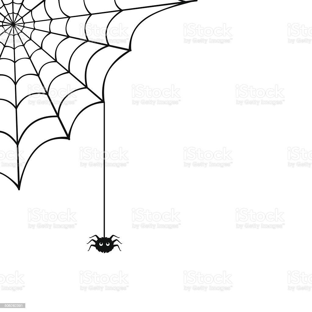 Spider web and spider. Vector illustration. vector art illustration