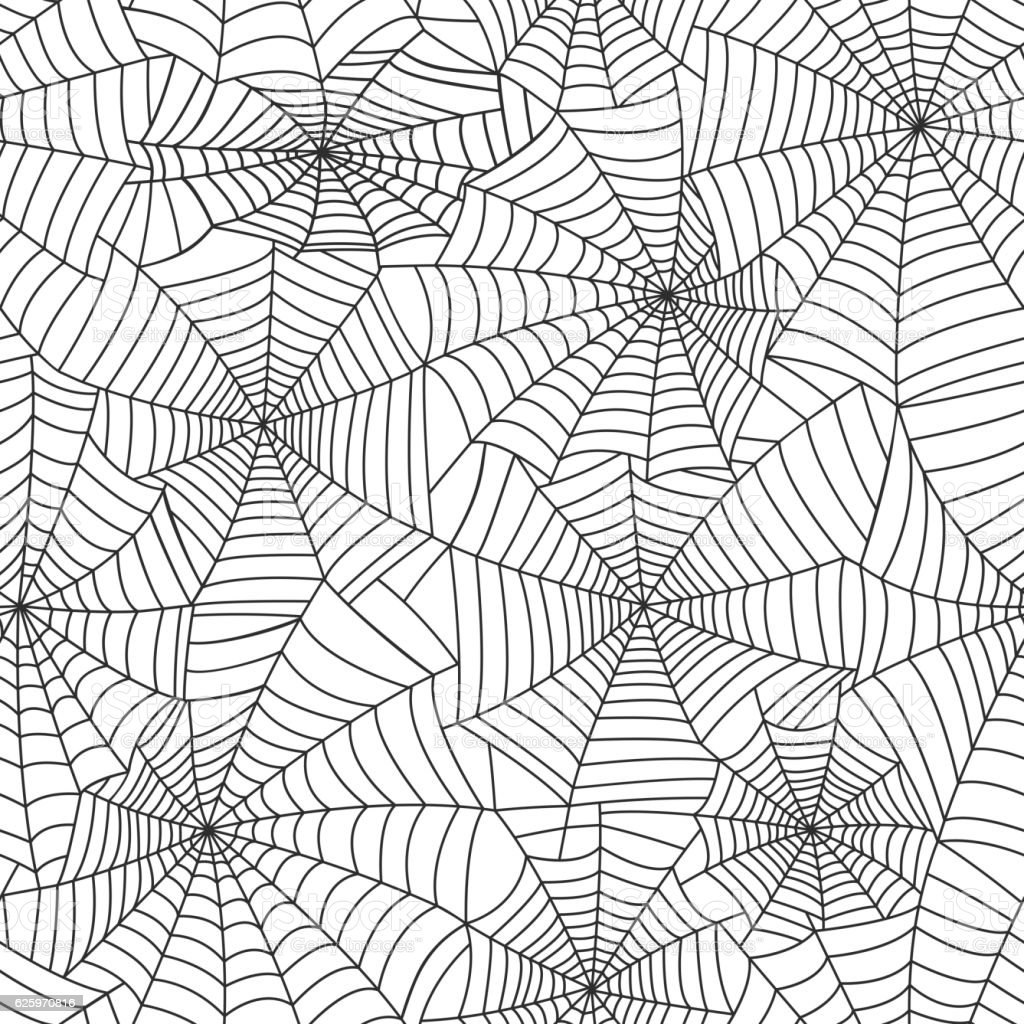 Spider web silhouette vector set vector art illustration