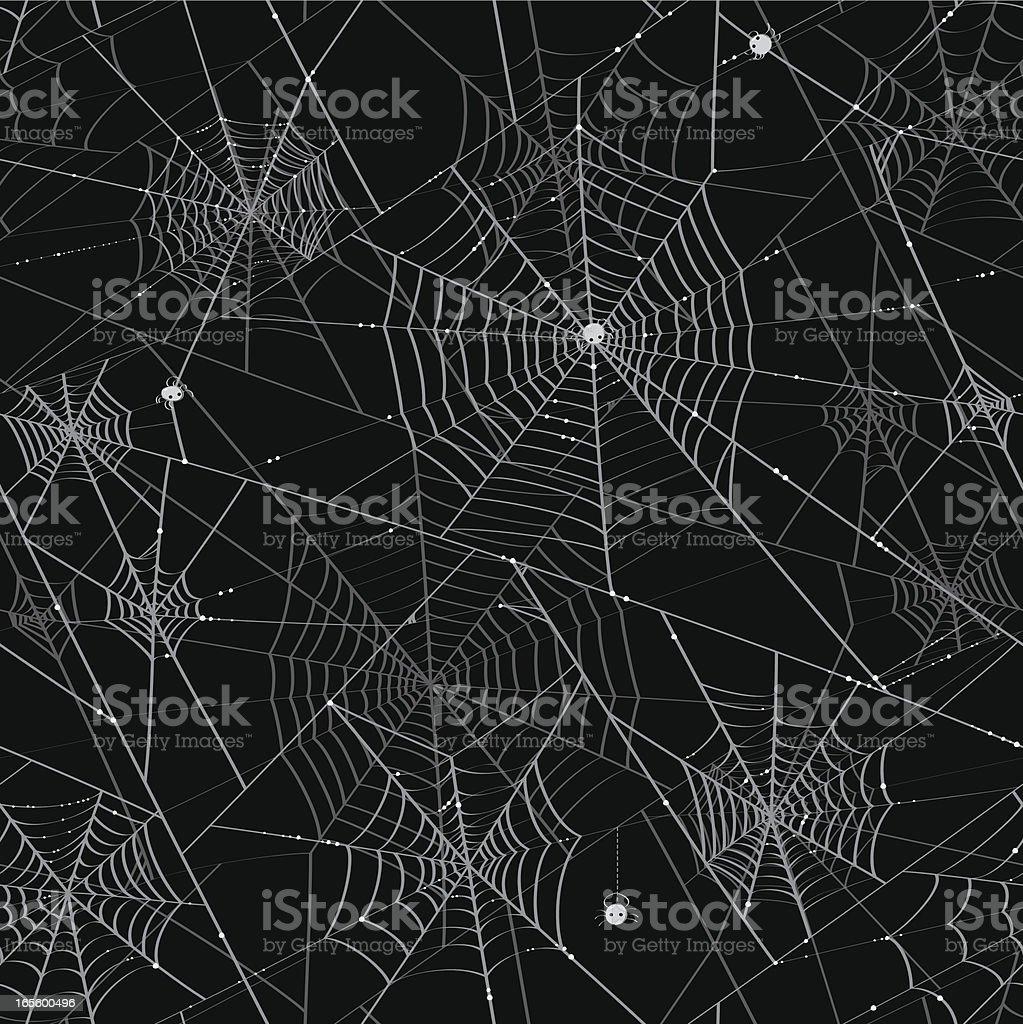Spider Webs - Tileable Background vector art illustration