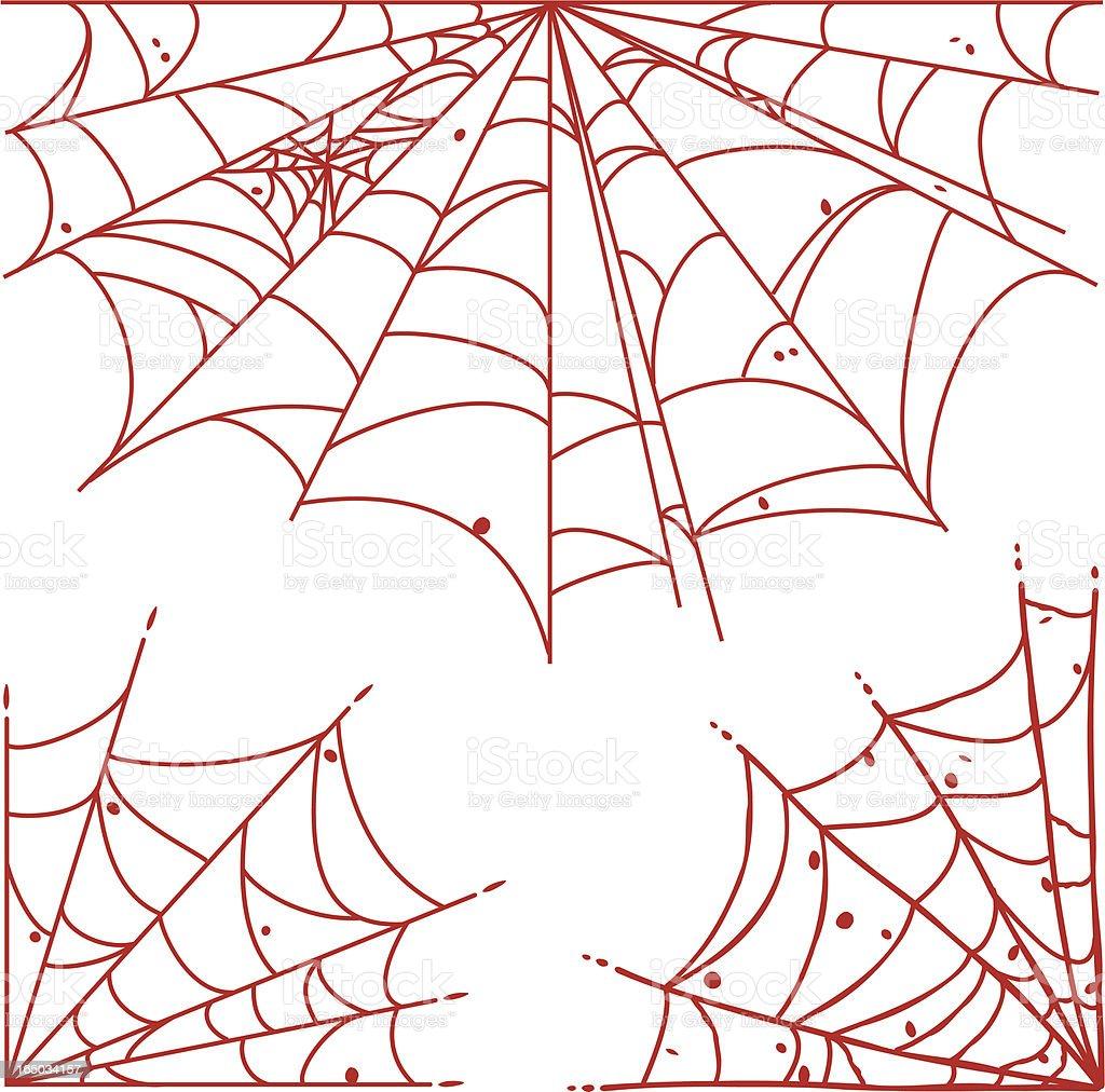 Spider Webs vector art illustration