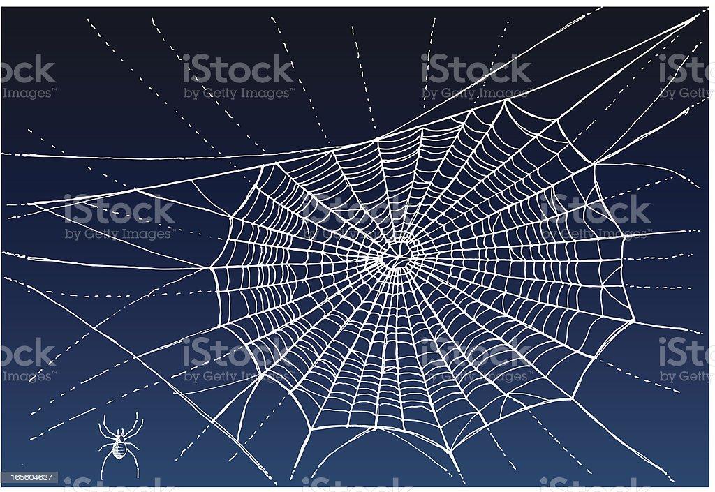 Spiderweb Handmade Sketch vector art illustration