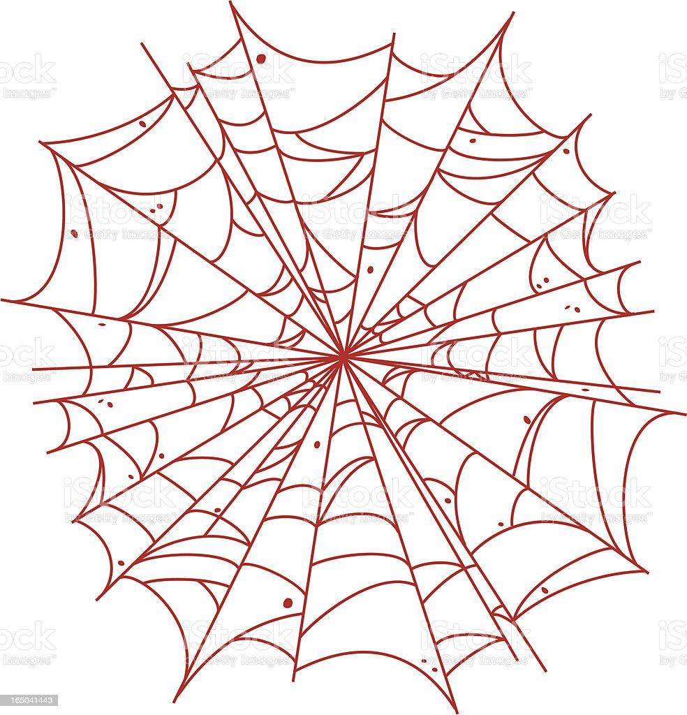 Spiderweb vector art illustration