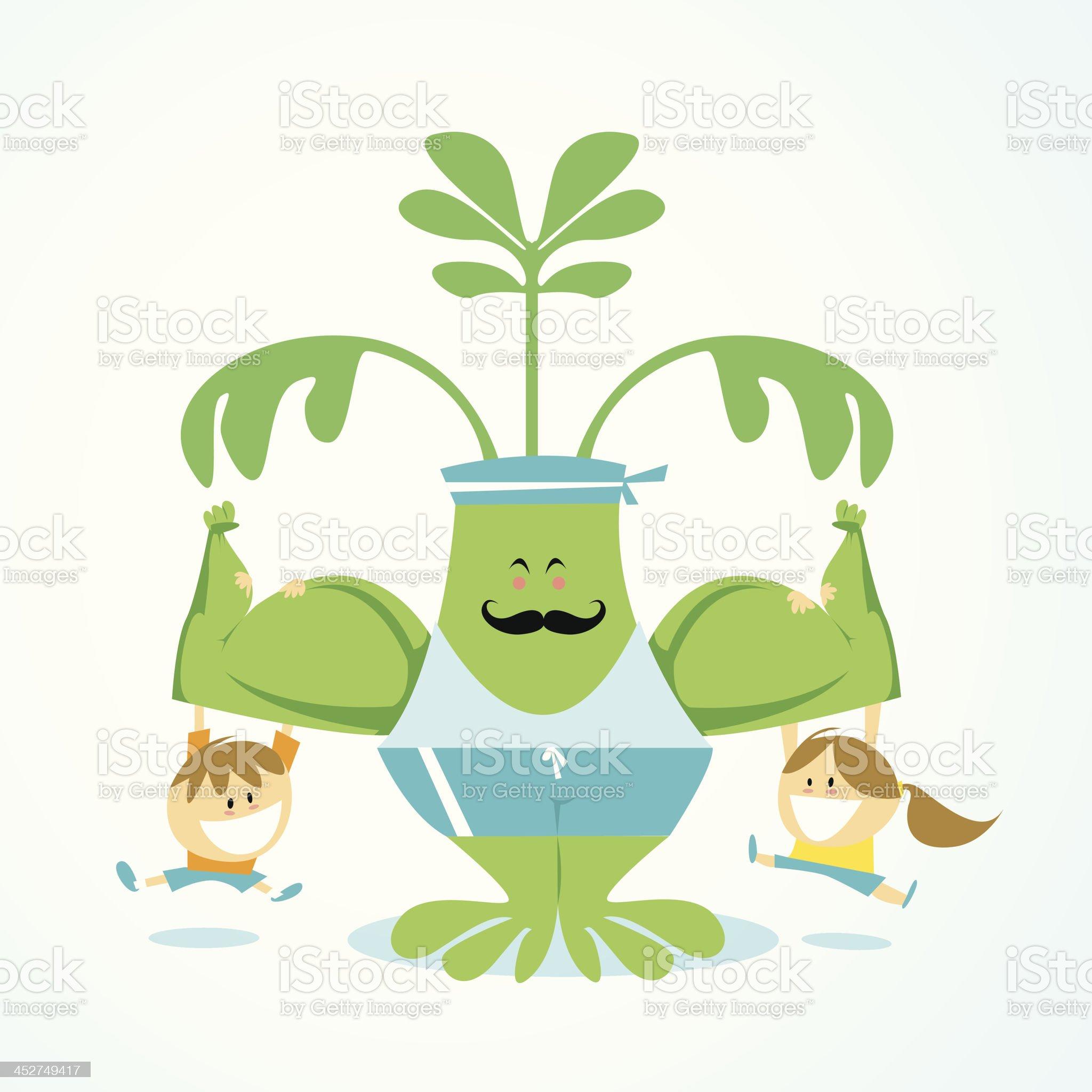 Spinach is healthy ISKawaii13 royalty-free stock vector art