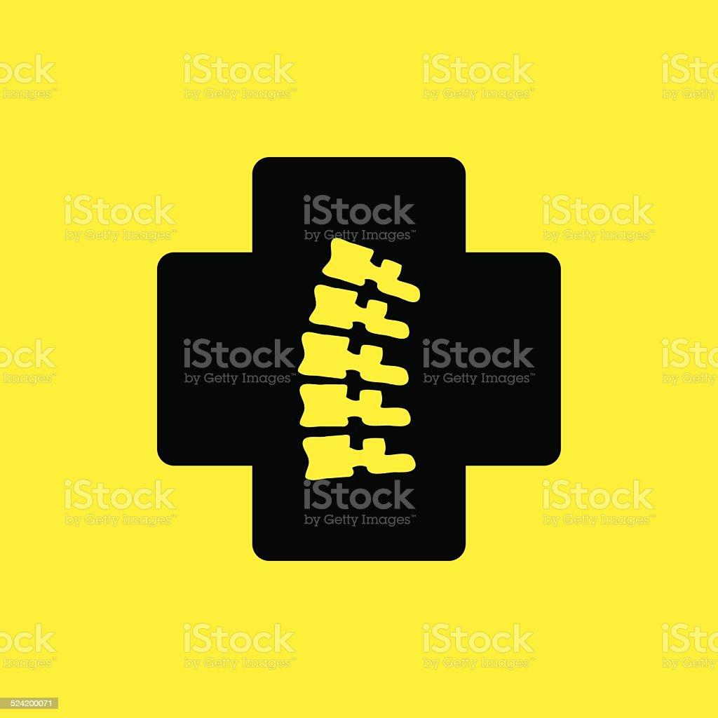 Spinal sign - vector illustration vector art illustration