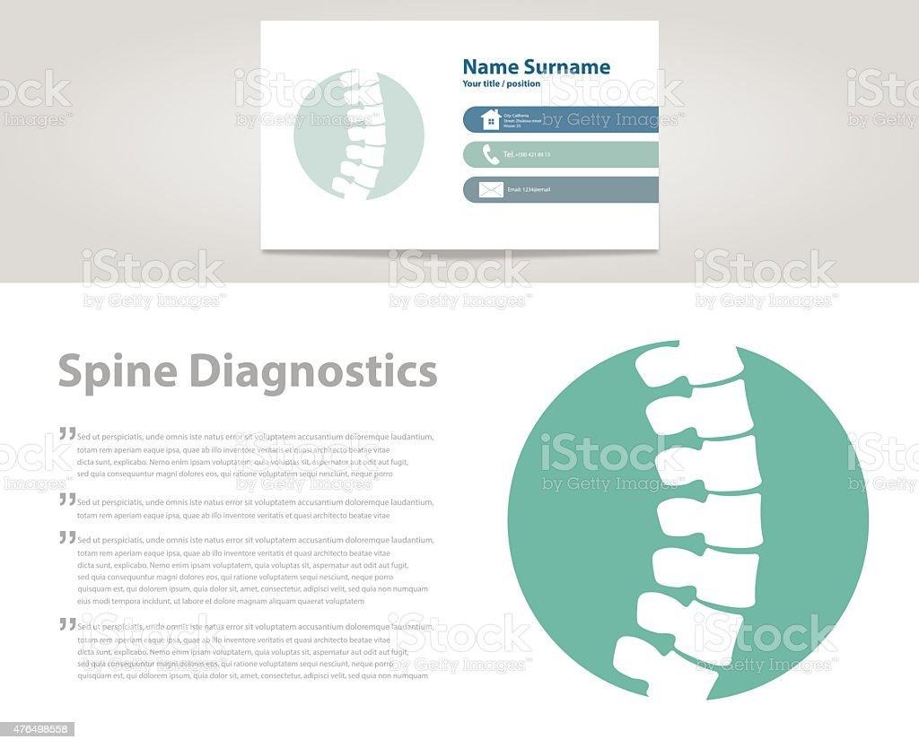 Spine Diagnostic. Vector vector art illustration
