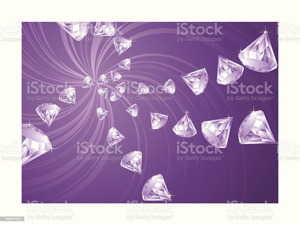 Spinning Diamond swirl royalty-free stock vector art
