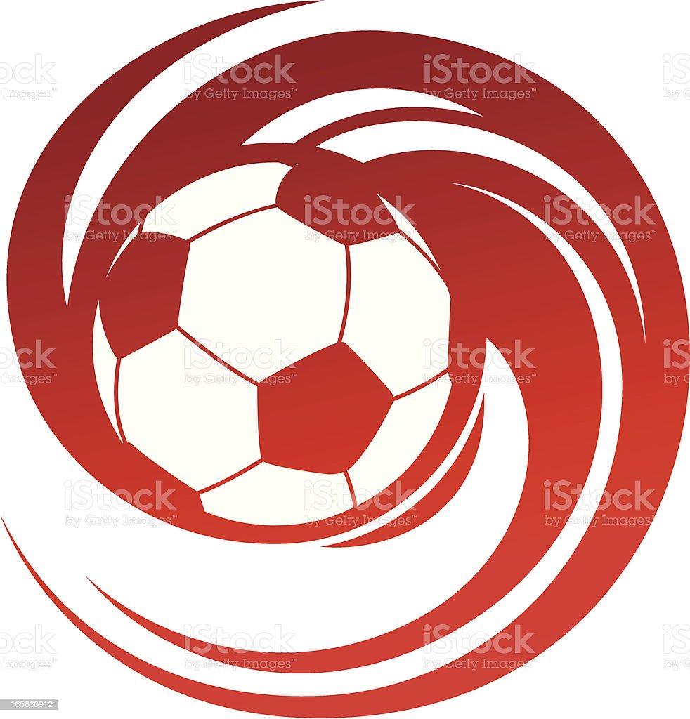 Spinning soccer vector art illustration