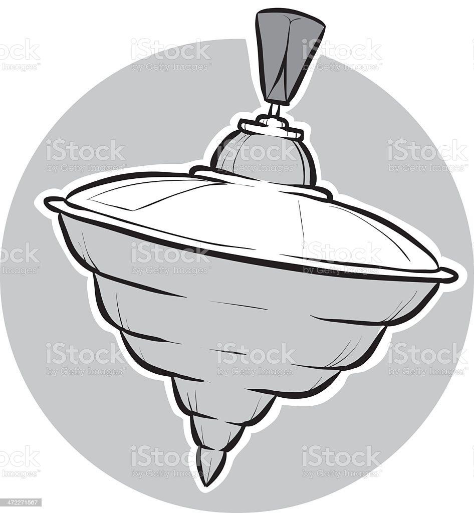 Spinning Top vector art illustration